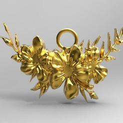 Flower pendant .1.jpg Télécharger fichier STL Pendentif en forme de fleur • Modèle pour impression 3D, carle-leo