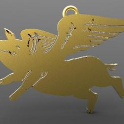 Pig 1.1.jpg Download STL file flying Pig • Design to 3D print, carle-leo