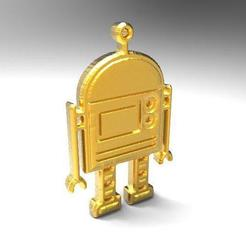 Robot pendant .2.jpg Download STL file Robot • 3D printable object, carle-leo