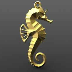 Download 3D model Seahorse, carle-leo