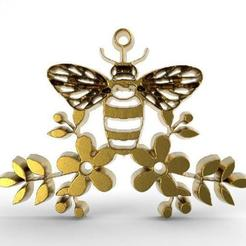 Download 3D printing templates Bee pendant, carle-leo