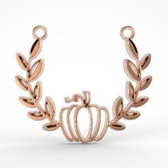 Download 3D printing models Pumpkin pendant,, carle-leo