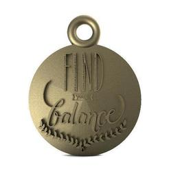 Download 3D printing templates find your balance pendant, carle-leo