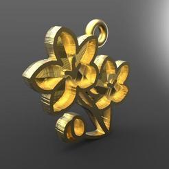 Flowers pendant .2.jpg Download STL file Flowers pendant • 3D printer object, carle-leo