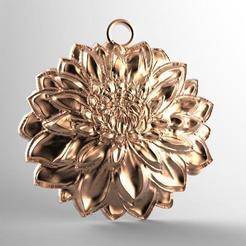 Colgante de flor .1.jpg Télécharger fichier STL Pendentif en forme de fleur • Modèle pour impression 3D, carle-leo