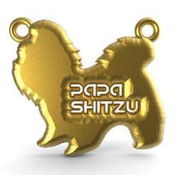 Papa shitzu pendant .1.jpg Télécharger fichier STL Pendentif Papa Shitzu • Design imprimable en 3D, carle-leo