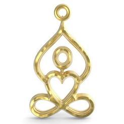 Download 3D printing files Yoga pendant, infinite heart, carle-leo