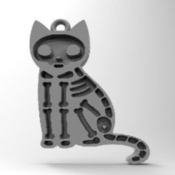 Cat .0.jpg Download STL file cat skeleton • 3D printable template, carle-leo