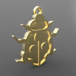 Insect pendant .1.jpg Télécharger fichier STL Pendentif d'insecte • Modèle à imprimer en 3D, carle-leo