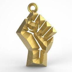 Fist .1.jpg Télécharger fichier STL Pendentif de poing 1 • Design pour impression 3D, carle-leo