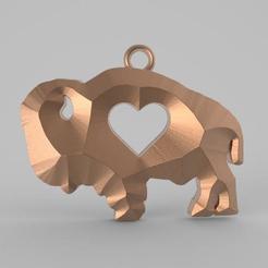 Télécharger modèle 3D L'amour du bison, carle-leo