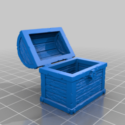 cofre_vacio.png Download free STL file Treasure chest • 3D print template, spalominominis