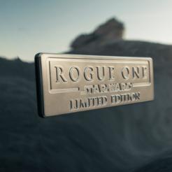PLACA ROGUE ONE.png Download STL file Rogue One Plate • 3D print template, alvarojgq