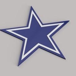 Render Cowboys.jpg Télécharger fichier STL gratuit Porte-clés des Dallas Cowboys • Plan pour impression 3D, Adry3D