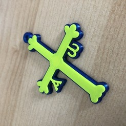 Download free 3D printing files It is a key ring of the most significant cross for Asturians (Asturias, Spain).