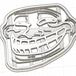 trollface.png Download STL file Trollface meme cookie cutter • 3D printing object, synuah