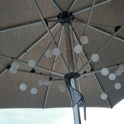 LampClip_Fortello_Mounted.jpg Télécharger fichier STL gratuit Porte-lampe de parasol Glatz Fortello • Plan imprimable en 3D, Markarndt