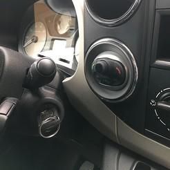 1.jpg Télécharger fichier STL Citroën Berlingo II Peugeot Partner couvercle de rangement ou PARROT MKi9100 support mains libres • Design pour imprimante 3D, cermy