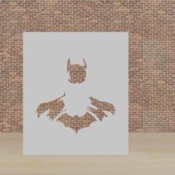 batman.png Télécharger fichier STL pochoir batman • Design à imprimer en 3D, diklonius