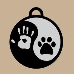 ying yang animal.jpg Télécharger fichier STL SHING SHANG FOTPRINT PORTE-CLÉS • Design pour imprimante 3D, diklonius