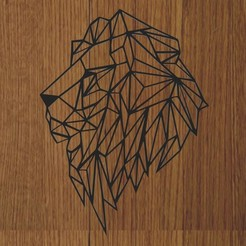 LEON.jpg Download STL file KEYCHAIN / PENDANT LION GEOMETRIC • 3D printing model, diklonius