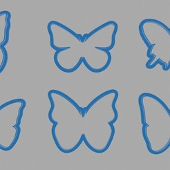 aaaa.jpg Download STL file BUTTERFLY COOKIE CUTTER • 3D printing model, diklonius