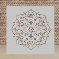 mandala 1.jpg Download STL file stencil mandala • Model to 3D print, diklonius