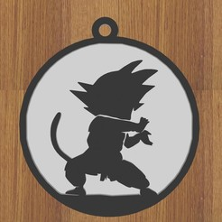 8.jpg Télécharger fichier STL GOKU DRAGON BALL KEYCHAIN • Plan pour impression 3D, diklonius