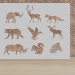 ANIMALS.png Télécharger fichier STL animaux de pochoir 2 • Modèle imprimable en 3D, diklonius