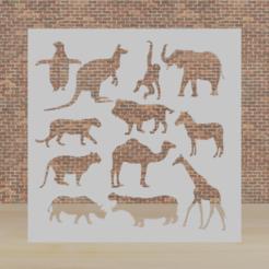 animales 2.png Télécharger fichier STL animaux de pochoir • Modèle pour impression 3D, diklonius