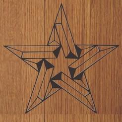 estrella.jpg Download STL file KEYCHAIN / PENDANT STAR GEOMETRIC • 3D print template, diklonius