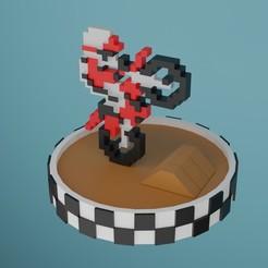 exitebike con base.jpg Download STL file excitebike 8bit • 3D print model, diklonius