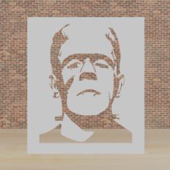 frankesss.png Télécharger fichier STL pochoir frankenstein • Objet pour impression 3D, diklonius