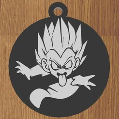 7.jpg Télécharger fichier STL PORTE-CLÉS GOTENKS DRAGON BALL • Design imprimable en 3D, diklonius