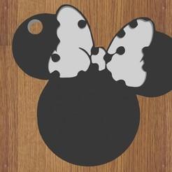 minie.jpg Télécharger fichier STL KEYCHAIN minnie mouse • Design pour imprimante 3D, diklonius