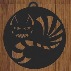 gato de alicia.jpg Download STL file KEYCHAIN SMILING CAT • Object to 3D print, diklonius