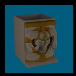 ESCUDO BRAUM.jpg Download STL file PENCIL HOLDER BRAUM LEAGUE OF LEGENDS • 3D printing model, diklonius