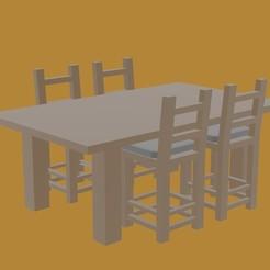 MESA 2.jpg Télécharger fichier STL ENSEMBLE D'ÉQUIPEMENT DE CUISINE POUR MAISON DE POUPÉE • Objet imprimable en 3D, diklonius