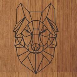lobo.jpg Download STL file KEYCHAIN / PENDANT WOLF GEOMETRIC • 3D printable design, diklonius