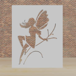 hada.png Télécharger fichier STL fée du pochoir • Design pour impression 3D, diklonius