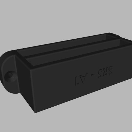 2020-05-19_16h06_22.png Télécharger fichier STL SRS A1 DOUBLE SUPPORT MURAL POUR MAGAZINES • Plan pour impression 3D, SANCAKTAR