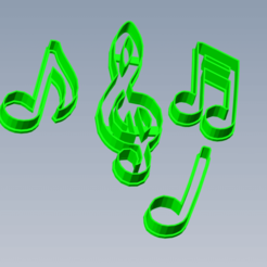Notas Musicales 1.png Download STL file Musical Notes Cutting Kit • 3D print design, enriqueaquino2002