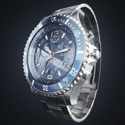 Sector_Watch.jpg Télécharger fichier STL Une montre moderne est modélisée dans tous ses détails, des chiffres aux aiguilles • Modèle pour impression 3D, 3dartmax