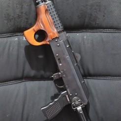 "Download free 3D printer model GHK AK 74u ""POLKADOT"" upper handguard, samdrv"