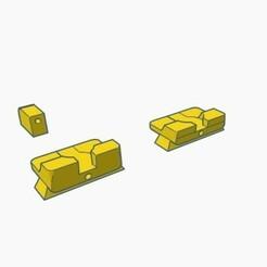 sight d.jpg Download STL file Glock Rear Front Sight set like Warren Tactical,  type d • 3D printing object, samdrv