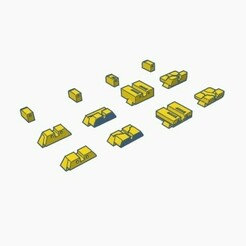 sight all.jpg Download STL file 4 Models of Sight set for KSC Glock • 3D printing template, samdrv
