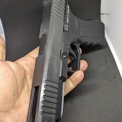 1.JPG Download STL file 3D PRINTED SLIDE Glock 34 FOR KSC GLOCK 17 + Outer • Object to 3D print, samdrv