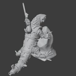 ChaosSorcererClimbing.png Télécharger fichier OBJ gratuit Un sorcier du chaos se fait bronzer sur un rocher • Objet à imprimer en 3D, Foxwarrior
