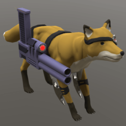 Snake.png Download OBJ file Snake Commando - Ripped Space Fox With Shotgun • 3D printing model, Foxwarrior