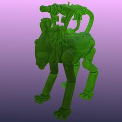 Télécharger modèle 3D gratuit Wraithfox, robot elfe de l'espace Animal fantôme, Foxwarrior